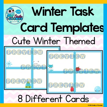 Winter Task Card Template