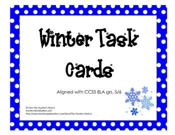 Winter Task Cards