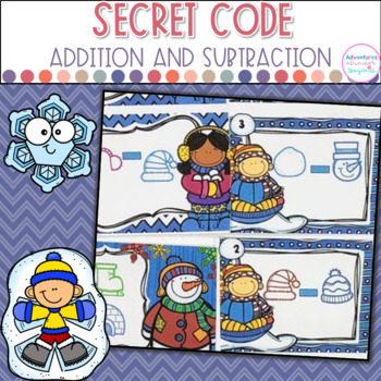 Addition and Subtraction Task Cards- Snow Much Fun