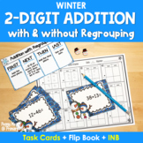 Double Digit Addition (Winter Task Cards)