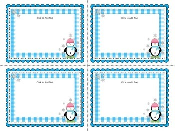 Winter Task Cards / Flashcards Template
