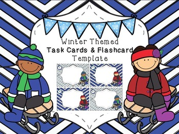 Winter Task Cards / Flashcards Template #2