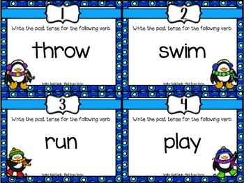 Winter Task Cards ~ Past Tense Verbs