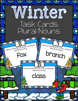 Winter Task Cards ~ Plural Nouns