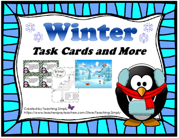 Task Cards and More - Winter - Fun - Reading - Writing