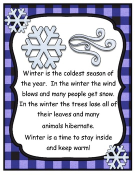 Winter Teacher Reader - Math & Literacy Mini Unit - Clothing Theme