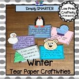 Winter Tear Paper Writing Craftivities