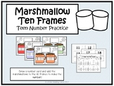 Winter Teen Number Math Center- Marshmallow Ten Frames