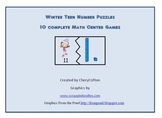 Winter Teen Number Puzzles
