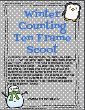 Winter Teen Number Scoot