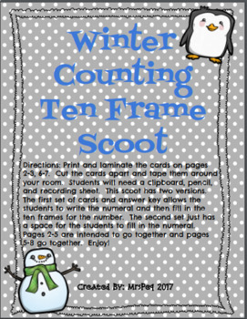 Winter Teen Number Scoot