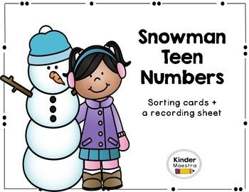 Winter Teen Number Sense Review