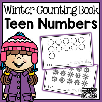 Winter Teen Numbers Counting Book