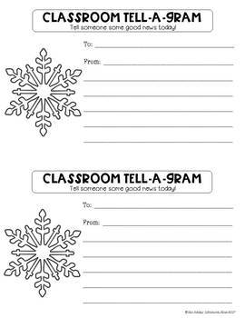 Winter Tell-A-Grams: Classroom Notes