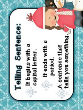 Winter Telling and Asking Sentence Teaching Materials