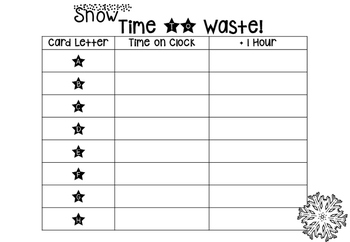 Winter Telling the Time on the hour- Snow Time to Waste! {year2tastic}