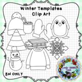Winter Template Clip Art