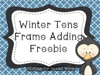 Winter Ten Frame Adding