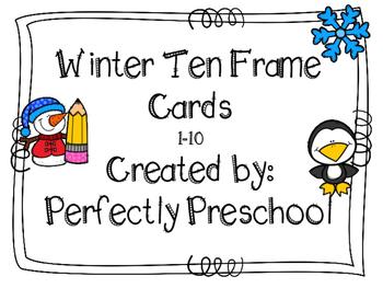 Winter Ten Frame Cards