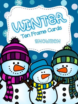 Winter Ten Frame Cards: Snowmen