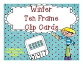 Winter Ten Frame Clip Cards