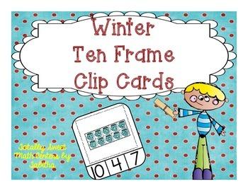 Winter Ten Frame Clip Cards