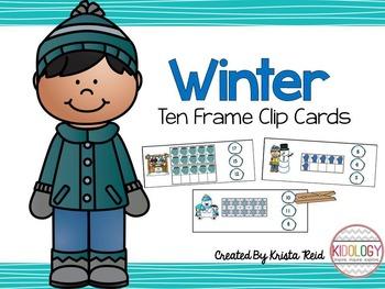 Numbers 1-20 - Ten Frame Activities and Centers - Winter