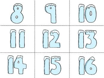 Winter Ten Frame Matching