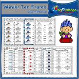 Winter Ten Frame Math Worksheets