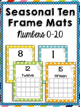 Seasonal Ten Frame Mats Numbers 0-20