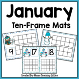 January (Winter) Ten Frame Mats Numbers 1-20