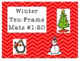 Mini Eraser Winter Ten-Frame Mats Numbers 1-20 (penguin,tr