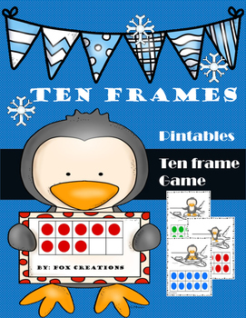 Winter Ten Frame Printables and Game!