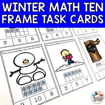 Winter Ten Frame Task Cards