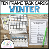 Winter Ten Frame Task Cards Making Ten with Winter Friends