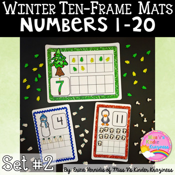 Winter Ten-Frame and Number Cards SET #2
