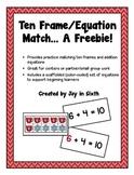 Winter Ten Frame/Equation Match... A Freebie