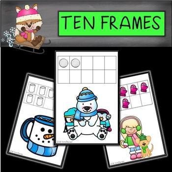 Winter Ten Frames by Mama Pearson | Teachers Pay Teachers
