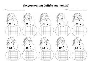 Winter Snowman Ten Frames