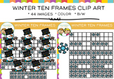 Winter Ten Frames Clip Art