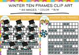 Winter Ten Frames Clip Art