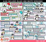 Winter Ten Frames Clip Art Bundle