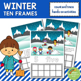 Winter Ten Frames Count and Write Activities