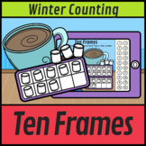 Winter Ten Frames Counting to 20 Marshmallows Tap It    Winter Boom Cards
