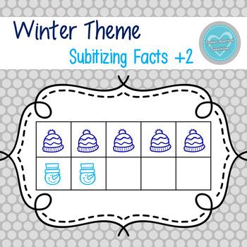 Winter Ten Frames: Math Facts +2