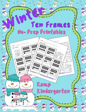 Winter Ten Frames No-Prep Printables (Quantities of 11-20)
