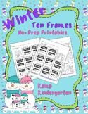 Winter Ten Frames No-Prep Printables (Quantities of 11-20)
