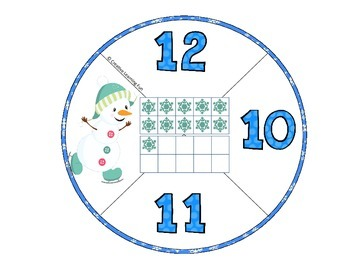 Winter Ten Frames - Number Recognition 10 to 20