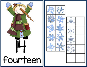 Winter Ten Frames Unit (Penguins, Snowmen, Children)