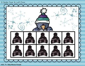 Ten-Frame Flash Cards Winter